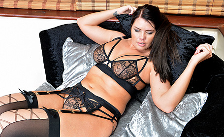 Kelly Steward Naughty in black lingerie